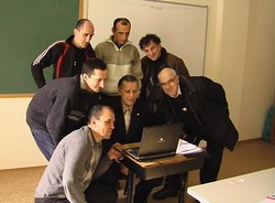 Сергей в группе студентов капеланского факультета ТХИ.